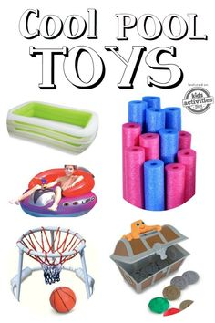 Get ready for the best summer yet with these Pool Hacks + Coolest Pool Toys Ever! You will have the coolest house on the block with these fun pool toys! Outdoor Activities For Toddlers, Water Sports Activities, Summer Activities For Kids, Kids Fun, Pool Toy Storage, Pool Patio Furniture, Pool Hacks, Beach Hacks, Outdoor Toys