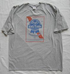 Size 3x Big D and The Kids Table Bender, Pabst Style Logo, Boston Punk Ska. $9.99 obo