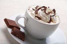 Dark Chocolate Coffee  Hot chocolate coffee with whipped cream and it's healthy! I dream of recipes like these and here is one of the best. ...