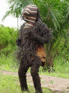 Songye Kifwebe Mask field photograph. D.R.Congo