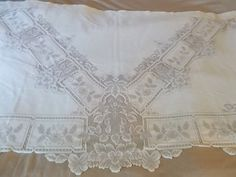 Vintage Lace Panel rod pocket  cream window by herbalcottage, $52.00