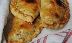 Pasties with a hot water dough crust