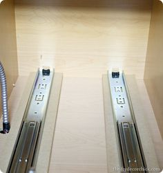 DIY roll out drawer slides