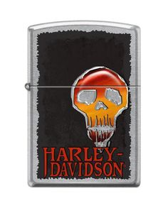 Packaged in an environmentally friendly gift box Fill with Zippo premium lighter fluid (Not included) Zippo Harley Davidson, Harley Davidson Street, Environmentally Friendly Gifts, Zippo Lighter, Chrome, Lighter Fluid, Classic, Cigar, Skulls