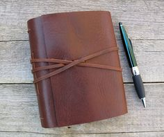 Custom Leather journal with your choice of quote / rustic brown leather journal by moon and hare by MoonAndHare on Etsy