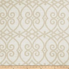Jaclyn Smith 02616 Linen Cashew from @fabricdotcom  Screen-printed on a linen/cotton blend, this versatile medium weight fabric features slubs and is perfect for most window treatments (draperies, valances, curtains), accent pillows, duvet covers, slipcovers, light upholstery and tote bags.