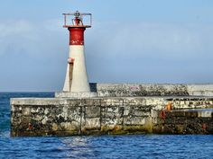 Kalk Bay Harbour Lighthouse, Cape Town, South Africa-by ossewa Water Pics, Water Pictures, Beacon Of Hope, Beacon Of Light, Lighthouse Lighting, Beacon Lighting, Cape Town South Africa, Light House, Windmills