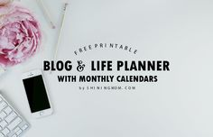 Free Printable 2018 Monthly Calendar and Planner in Florals!