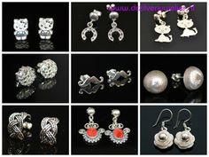 Prachtige zilveren oorbellen (oorhangers en oorstekers) van zilver 950. Gratis verzending in Nederland