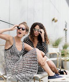 Love the left dress! #crochet #dress
