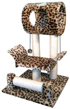 Leopard Cat Tree Tower Condo Furniture Scratch Scratching Post Kitty Pet House Play New Cat Tree House, Cat Tree Condo, Cat Condo, Kitty House, Cool Cat Trees, Cool Cats, Cat Tree Plans, Furniture Scratches, Condo Furniture