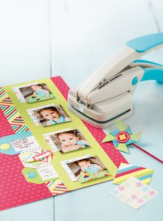 Candy Shop Sweet Scrapbook Layout Idea