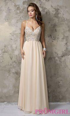 Nina Cannaci Long V-Neck Prom Dress
