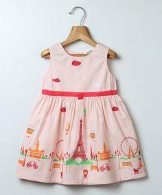 Light Pink Paris Sleeveless Dress - Infant, Toddler & Girls