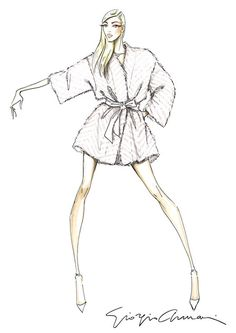 Fashion illustration - fashion sketch for Giorgio Armani