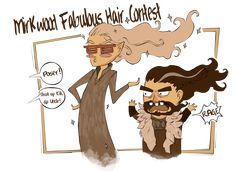 The Mirkwood Fabulous Hair Contest ::Sketch:: by MightyMilly.deviantart.com on @deviantART