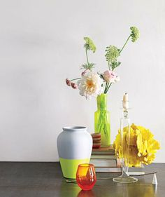 Add a jolt to a peaceful tablescape with accessories that are organic in  form and invigorating 6bd186a10a9