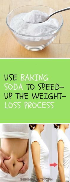 Use Baking Soda to Speed-up the Weight-loss Process - The Organic Health Baking Soda Lemon Juice, Baking Soda Scrub, Baking Soda For Hair, Baking Soda Shampoo, Lose Weight Naturally, How To Lose Weight Fast, Baking Soda Dark Circles, Soda Recipe, Natural Kitchen