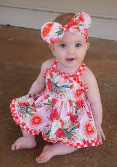 African Dresses For Kids, Kids Outfits Girls, Little Girl Dresses, Baby Dresses, Baby Frocks Designs, Kids Frocks Design, Sewing For Kids, Baby Sewing, Toddler Fashion