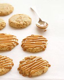 If you're nuts for nuts, salted cashews -- both ground into a butter and chopped -- give caramel-drizzled cookies deep flavor.