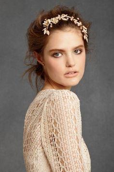 BHLDN bridal head wreath magic!