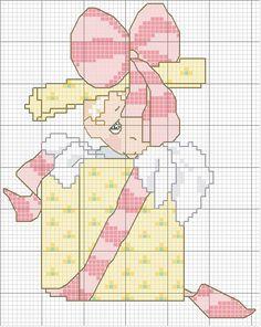 Schema punto croce Paccoregalo-bimba