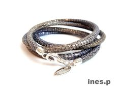 Lederarmband Reptile Glam - jeans 49 Euro Hier erhältlich: http://www.inesp.de/shop-1/mixed-1/