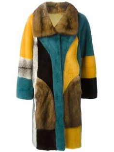 colorful mink fur coat