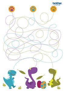 Dinosaur Maze #free #printables for #backtoschool #DIY #classroom fun #kidsgames