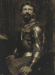 The Man in Armor [Self-Portrait in Armor] - Frank Eugene - c. 1898.