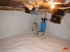 These are pictures of a crawlspace cellar recently encapsulated by Indiana Crawlspace Repair. Crawl Space Encapsulation, Before And After Pictures, Mason Jar Lamp, Cellar, Track Lighting, Table Lamp, Ceiling Lights, Home Decor, Table Lamps