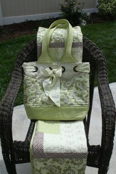 Baby Bunnies Diaper Bag by LilBitsofThread on Etsy, $75.00