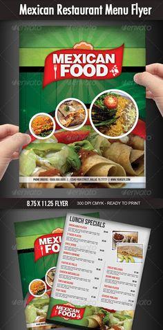 25 High Quality Restaurant Menu Design Templates | Mexican menu ...