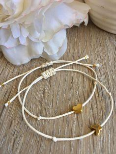 Bracelet tendance,bracelet coeur ,bracelet cordon ,bracelet d'amitié,bracelet femme,,bracelet cordon ciré ,bracelet,bracelet coeur,papillon de la boutique monJuliebijou sur Etsy