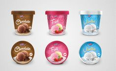 Ice cream packaging design Dessert Drinks, Desserts, Biscuits Packaging, Product Branding, Ice Cream Packaging, Bad Room Ideas, Chibi Food, Frozen Yoghurt, Chocolate Biscuits