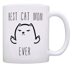 Best Cat Dad, Best Cat Mom Middle Finger Mug