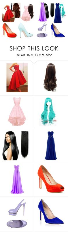 """""""Ashley, Sierra, Aphmau, and Katelyn's Prom outfit"""" by lizzie12304 on Polyvore featuring Coshome, Via Spiga, Le Silla and Manolo Blahnik"""