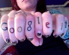 goggle it on knuckles tattoo regrettable bad tattoos terrible awful ugliest tattoos wtf tattoos, horrible tattoos funny tattoos awkward fami...