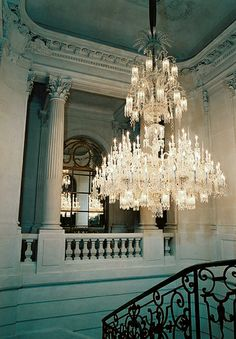 My biggest interior dream: To own a Baccarat chandelier! @ Maison Baccarat Paris, by Claude Weber Chandelier Lighting, Crystal Chandeliers, Baccarat Chandelier, Baccarat Crystal, Vintage Chandelier, Turquoise Chandelier, Crystal Room, Turquoise Walls, Hanging Chandelier