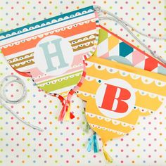 Bright Pattern Birthday Party Garland by Beau-coup