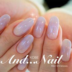 Simple perpet gray ✨ # gradation # simple # office # fall # smokey # winter # purple # lame # bridal # gel nail # customer # one color # hand # medium # Mari Shirakawa ★ Kobe and nail # nail book