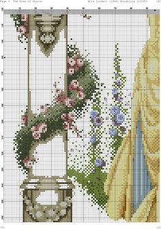 Cross Stitch Designs, Cross Stitch Patterns, Cross Stitches, Cross Stitch Fairy, Cross Stitch Pictures, Handicraft, Diy And Crafts, Miniatures, Rose