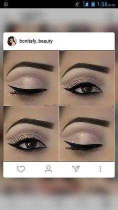 Wedding Makeup For Brown Eyes Latina Make Up Ideas For 2 Makeup Eye Looks, Beautiful Eye Makeup, Face Makeup, Natural Makeup Tips, Eye Makeup Tips, Makeup Ads, Glitter Eye Makeup, Eyeshadow Makeup, Make Up Tutorial Contouring