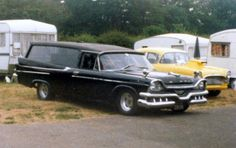 I think this is a Dodge Royale Hearse.I maybe wrong.