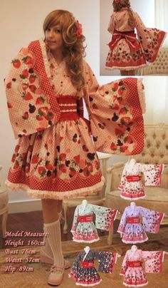 details zu cosplay lolita japanische kimono manga dress. Black Bedroom Furniture Sets. Home Design Ideas