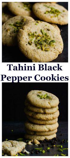 Tahini Black Pepper Shortbread Cookies