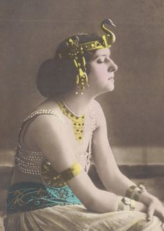 Salome in Wonderful Art Nouveau Headdress