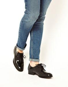 Imagen 3 de Zapatos Oxford de cuero MOODY BLUES de ASOS