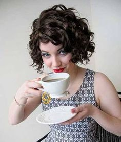 curly hair shaggy bob - Google Search