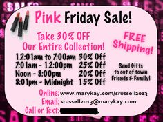 bf84570aff0 Pink friday specials!